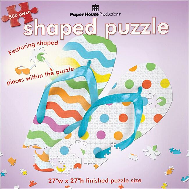 Paper House 'Flip Flops 2' Jigsaw Puzzle (500-piece)