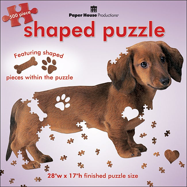 Paper House Dachshund Jigsaw Puzzle 500 Piece Free