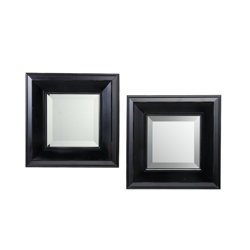Wilson Black Wall Mirrors (Set of 2)