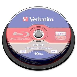Verbatim BD-RE 25GB 2X with Branded Surface - 10pk Spindle Box - TAA