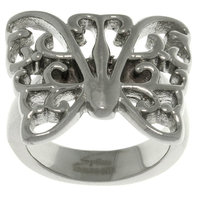Carolina Glamour Collection Stainless Steel Butterfly Ring