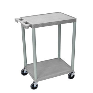 Luxor Two-shelf Heavy-Duty Plastic Utility Cart