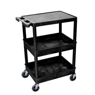 Luxor Two-tub Heavy-duty Plastic 300-pound-capacity Utility Cart