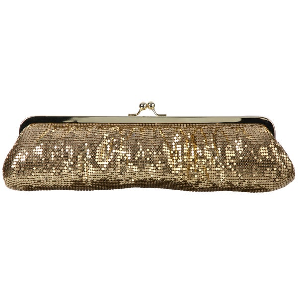 Carlo Fellini Gold Mesh Chain Strap Clutch