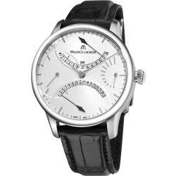 Maurice Lacroix Men's MP6518-SS001-130 'Master Piece' Double Retrograde Automatic Watch|https://ak1.ostkcdn.com/images/products/6513869/78/926/Maurice-Lacroix-Mens-MP6518-SS001-130-Master-Piece-Double-Retrograde-Automatic-Watch-P14101121.jpg?impolicy=medium