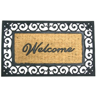 Rubber-Cal 'Welcome to Your Fortress' Rubber Coir Door Mat (18 x 30)