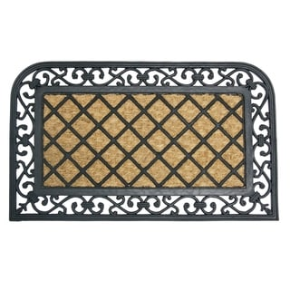 Rubber-Cal 'Autumn Breeze' Rubber Coconut Fiber Door Mat (18 x 30)