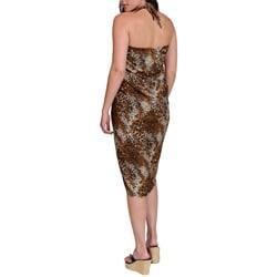 1 World Sarongs Women's Tiger Print Sarong (Indonesia) - Thumbnail 1