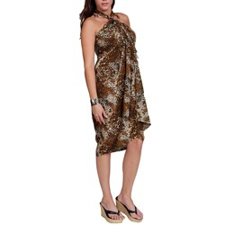 1 World Sarongs Women's Tiger Print Sarong (Indonesia)