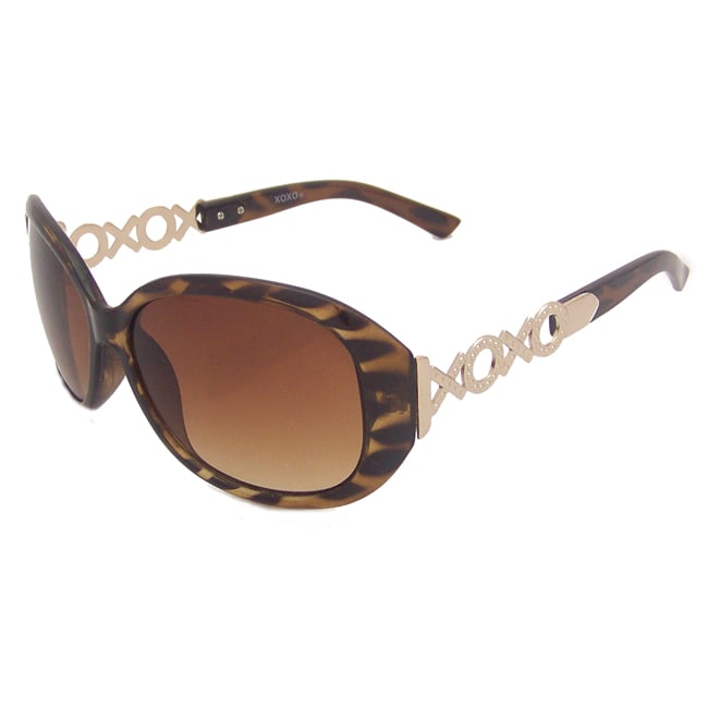 Imagine XOXO Women's Brown Tortotise/Goldtone Plastic Sunglasses