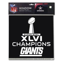 New York Giants Super Bowl XLVI Champion Window Graphic