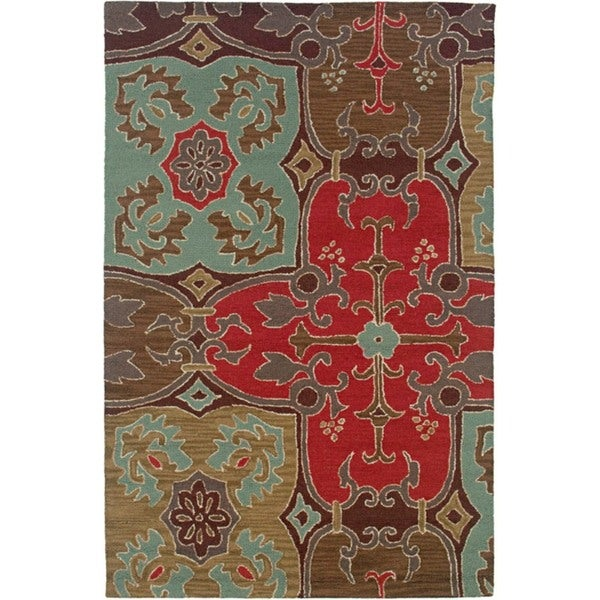 Rizzy Home Country Collection Hand-tufted New Zealand Wool Blend Accent Rug (5' x 8') - 5' x 8'