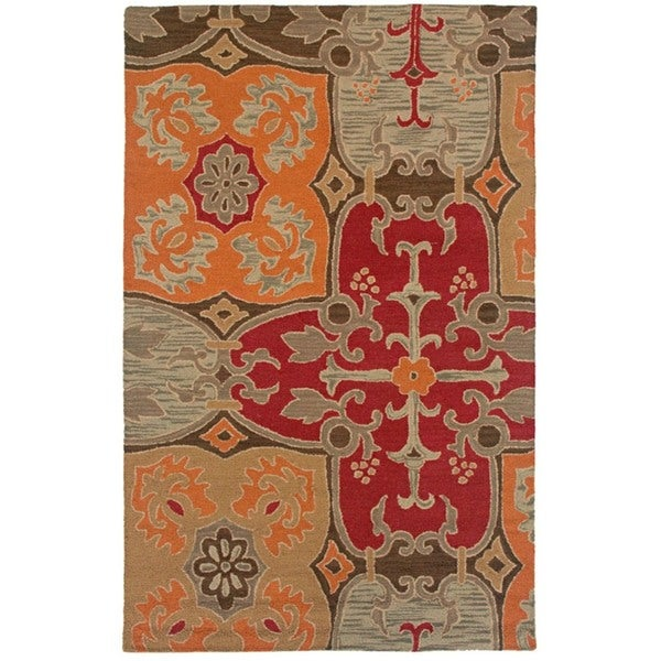 Rizzy Home Country Collection Hand-tufted New Zealand Wool Blend Accent Rug - 5' x 8'