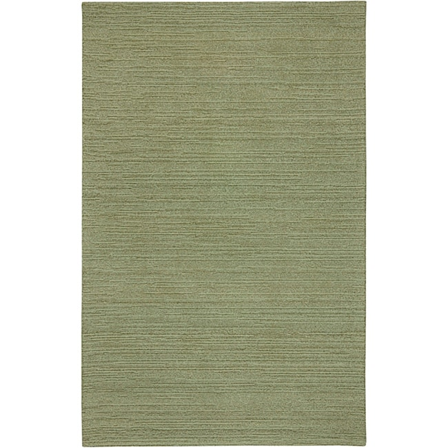 Hand-tufted Sovereignty Solid Sage Rug (5' x 8')
