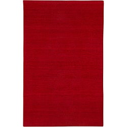 Hand-tufted Sovereignty Solid Red Rug (5' x 8')
