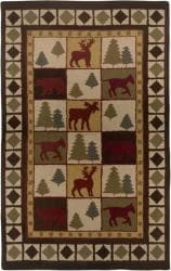 Hand-tufted Sovereignty Brown Rug (5' x 8')