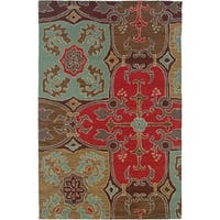 Rizzy Home Country Collection Hand-tufted New Zealand Wool Blend Accent Rug (8' Round)