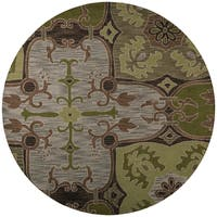 Rizzy Home Country Collection Hand-tufted New Zealand Wool Blend Accent Rug - 8' x 8'