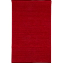 Hand-tufted Sovereignty Solid Red Rug (8' x 8' Round)