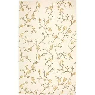 Rizzy Home Country Collection Hand-tufted New Zealand Wool Blend Beige Accent Rug (8' Round)