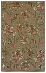 Rizzy Home Country Collection Green Hand-tufted Rug (8' x 10') - 8' x 10'