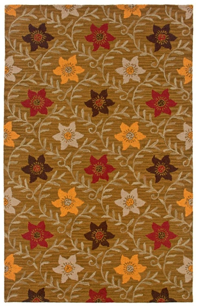 Rizzy Home Country Collection Hand-tufted Dark Gold Rug (8' x 10') - 8' x 10'