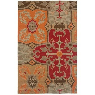 Rizzy Home Country Collection Hand-tufted New Zealand Wool Blend Accent Rug (8' x 10') - 8' x 10'