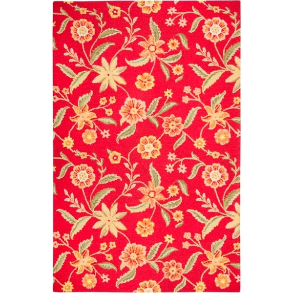 Hand-tufted Sovereignty Red Rug (8' x 10')