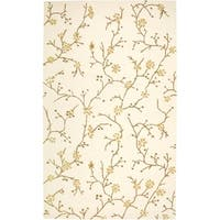 Rizzy Home Country Collection Hand-Tufted New Zealand Wool Blend Beige Accent Rug  (8' x 10')