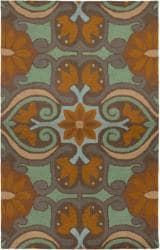 Rizzy Home Country Collection Hand-Tufted New Zealand Wool Blend Brown Accent Rug (8' x 10') - Thumbnail 0