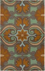 Rizzy Home Country Collection Hand-Tufted New Zealand Wool Blend Brown Accent Rug (8' x 10')