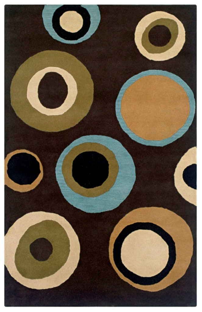 Hand-Tufted Artisan Brown Wool Rug - 5' x 8'