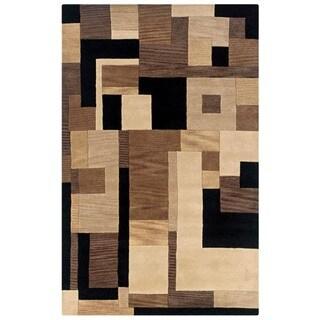 Hand-tufted Artisan Black Area Rug (5' x 8') - 5' x 8'