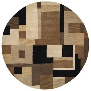 Hand-tufted Artisan Black Round Rug (8' x 8')