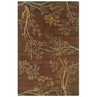 Hand-tufted Artisan Brown Rug (8' x 8' Round)