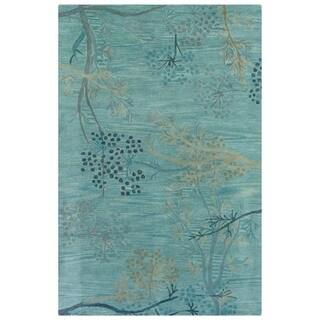 Hand-tufted Artisan Light Blue Rug (8' x 8' Round) - 8' x 8'