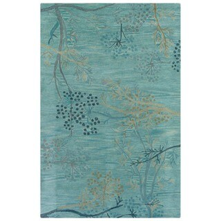 Hand-tufted Artisan Light Blue Rug (8' x 8' Round)