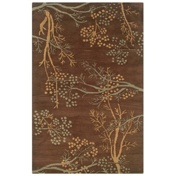 Hand-tufted Artisan Brown Rug - 8' x 10'