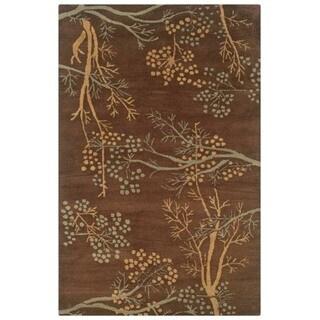 Hand-tufted Artisan Brown Rug (8' x 10')