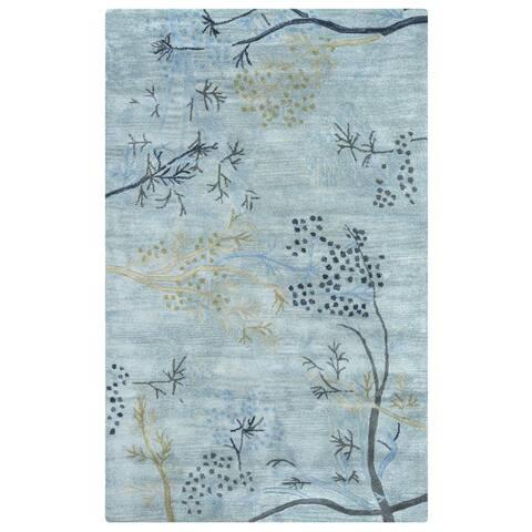 Hand-tufted Artisan Light Blue Rug (8' x 10') - 8' x 10'