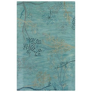 Hand-tufted Artisan Light Blue Rug (8' x 10')