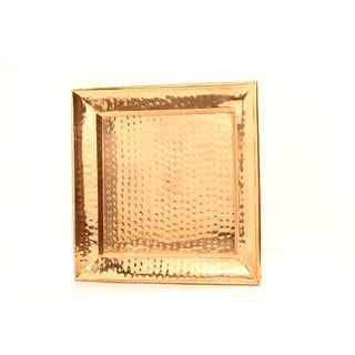 Old Dutch Square Decor Copper Hammered Tray