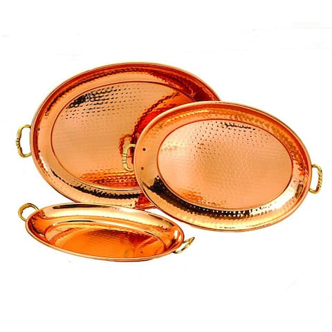 Decor Copper Oval Trays (Set of 3)