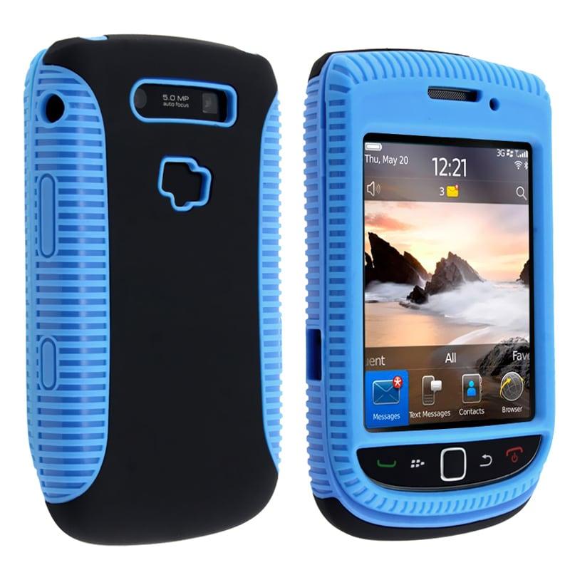Blue TPU/ Black Hard Hybrid case for BlackBerry Torch 9800/ 9810