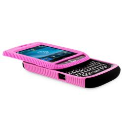 Pink TPU/ Black Hard Hybrid case for BlackBerry Torch 9800/ 9810 - Thumbnail 1