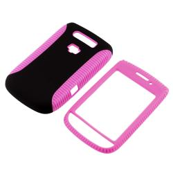 Pink TPU/ Black Hard Hybrid case for BlackBerry Torch 9800/ 9810 - Thumbnail 2