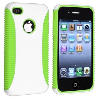 Light Green TPU/ White Hard Hybrid Case for Apple iPhone 4/ 4S