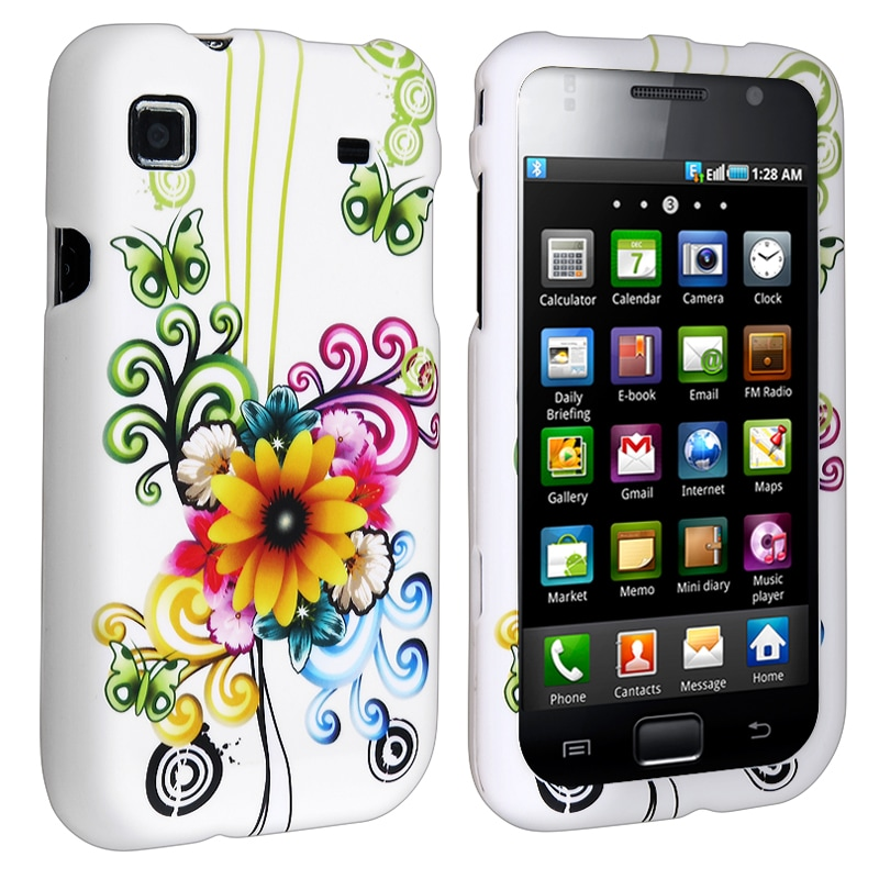Autumn Flower Snap-on Rubber Coated Case for Samsung i9000 Galaxy S