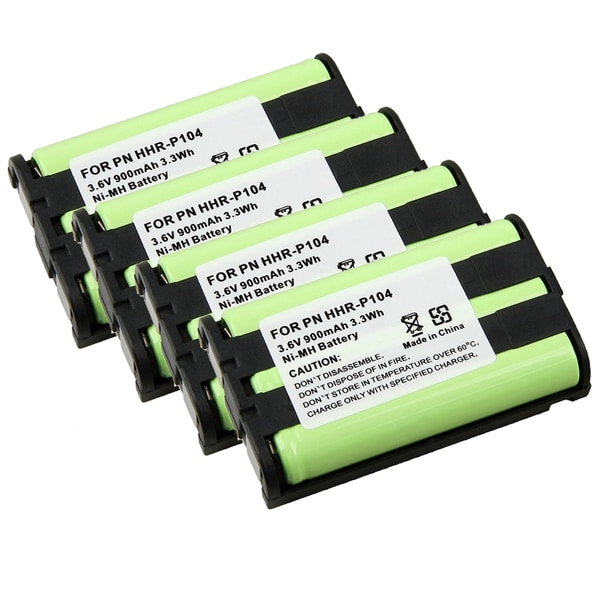INSTEN Compatible Ni-MH Battery for Panasonic HHR-P104 Cordless Phone(Pack of 4)