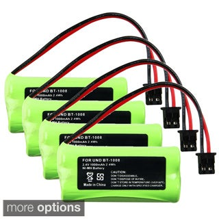 INSTEN Compatible Ni-MH Battery for Uniden BT-1008 Cordless Phone (Pack of 4)